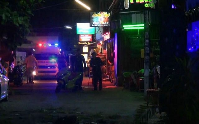 In this screen grab taken from a video, emergency services are at the scene of a bomb attack in Hua Hin, Thailand, August 11, 2016. (AP)