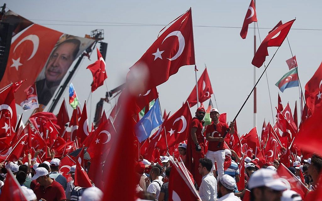 Thousands of people attend a rally in Istanbul, Sunday, August 7, 2016. (AP/Emrah Gurel)