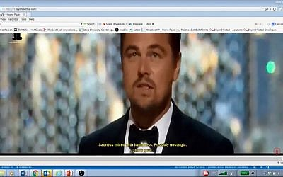 Beyond Verbal's technology analyzes Leonardo DiCaprio's Oscar acceptance speech. (YouTube screenshot)