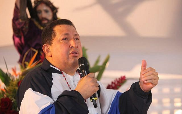 Late Venezuelan president Hugo Chavez delivers a speech in 2012 (Francisco Batista/Miraflores Press Office/AP)