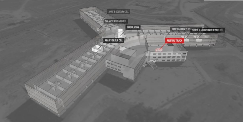 Israeli architect Eyal Weizman's architectural virtual model, 'Saydnaya: Inside a Syrian Torture Prison,' published in mid-August on the Amnesty International website. (screenshot)
