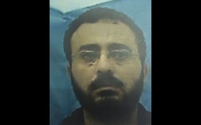 Waheed Abd Allah Bossh, an engineer with the UN's Development Program, accused of using his position to aid the Hamas terrorist organization, on August 9, 2016. (Shin Bet)