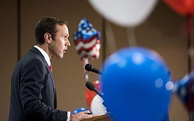 Paul Nehlen speaks after losing to House Speaker Paul Ryan in Wisconsin's primary, August 9, 2016. (Angela Major/The Janesville Gazette via AP)