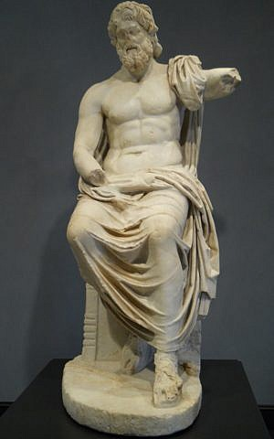 A statue of Zeus at the Getty Villa in Los Angeles, dating from the first century CE (Wikimedia Commons, Sdwelch1031, CC BY 3.0)