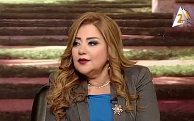 Egyptian TV host Khadija Khatab (YouTube screenshot)