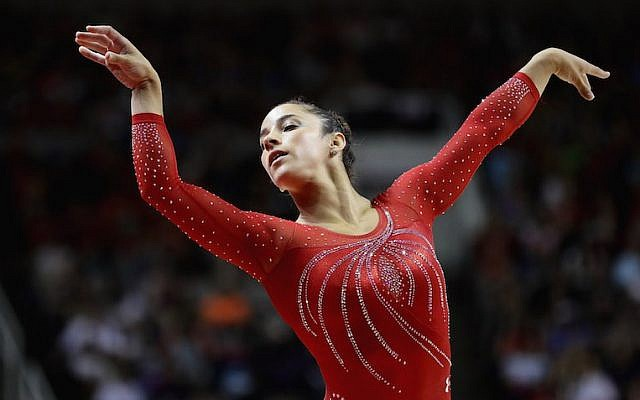 Aly Raisman competing in the floor exercise at the 2016 U.S. Women's Gymnastics Olympic Trials in San Jose, Calif., July 10, 2016. (Ezra Shaw/Getty Images)