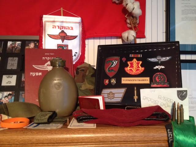 IDF-related items in Michael Levin's bedroom (Joel Chasnoff)