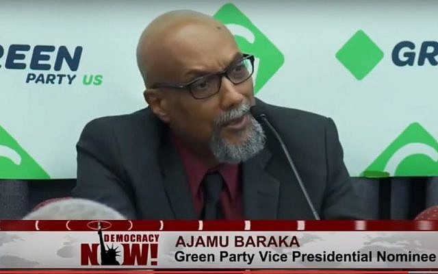 Vice presidential candidate for the Green Party, Ajamu Baraka. (Democracy Now!/YouTube)