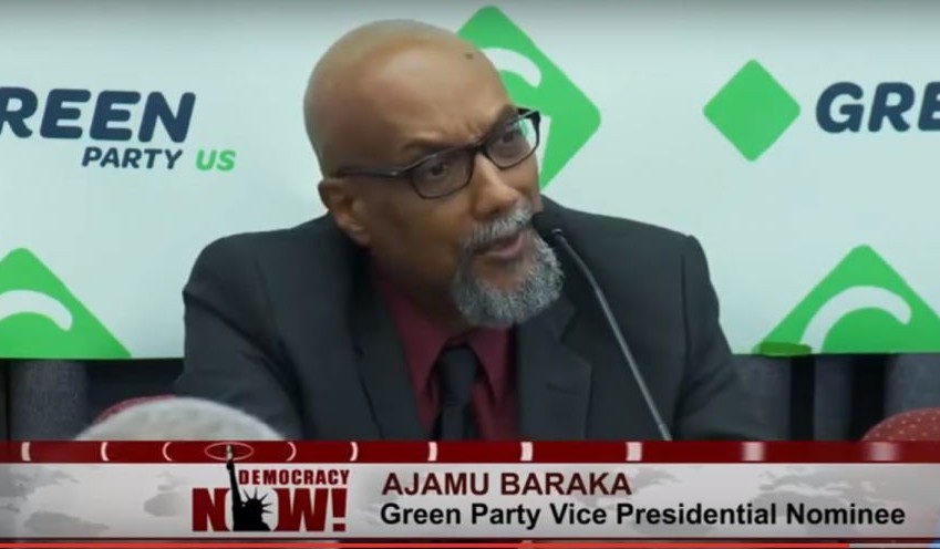Vice presidential candidate for the Green Party, Ajamu Baraka. (Democracy Now!/