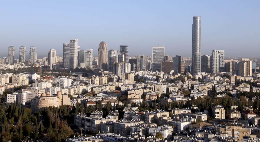 View of the Ramat Gan diamondexchange district, where many binary options firms are located, November 10, 2013. (Moshe Shai/FLASH90)