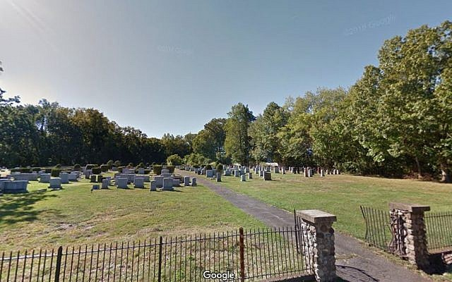 Temple Israel Cemetery in Blauvelt, in Rockland County, New York. (screen capture Google streetview)
