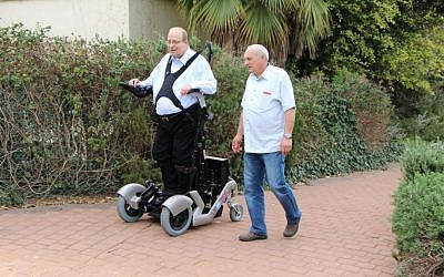 Dr. Amit Goffer's UPnRIDE Robotics Ltd. is developing a system that enables paraplegics to stand up straight, walk and climb stairs. (Courtesy)