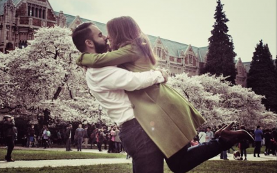 Daniel Behrman and Jenna Kruger met at a weekend conference in Jerusalem through their Masa internship programs. They are to marry in September 2016 (Courtesy of Behrman and Kruger/via JTA)