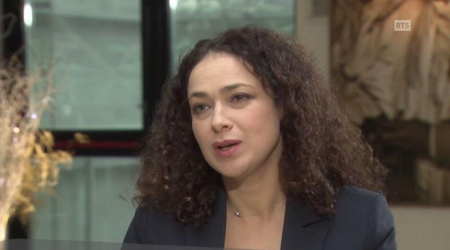 Rabbi Delphine Horvilleur on Swiss Radio Television. (Screenshot, YouTube)