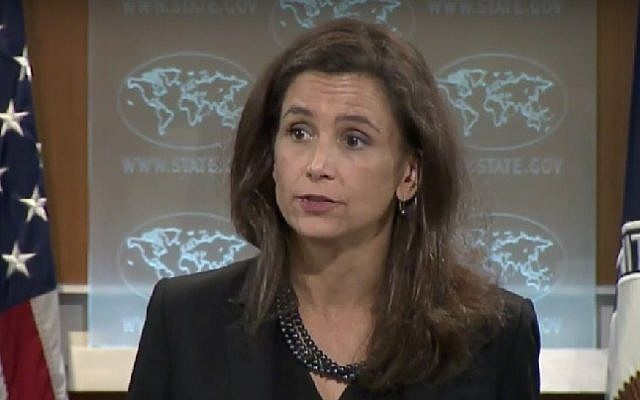 State Department Spokeswoman Elizabeth Trudeau briefs reporters on August 24, 2016. (Screenshot/US State Department)