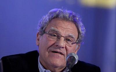 Prof. Efraim Inbar attends a conference in Jerusalem on February 3, 2014. (Flash90)