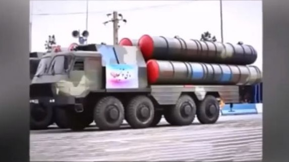 Iran's domestically made long-range missile defense system, the Bavar-373, seen on display during a 2015 parade. (screen capture: YouTube)