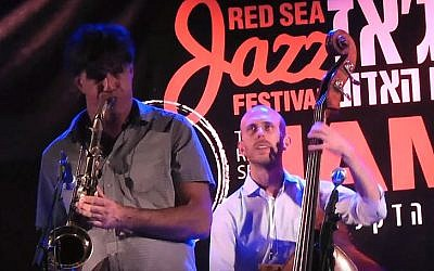 A jam session at the 2014 Red Sea Jazz festival (YouTube screenshot)