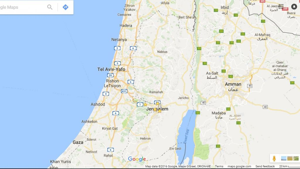 Contrary to claim google didnt wipe palestine off maps the google maps does label palestine or the west bank screen capture google maps sciox Choice Image