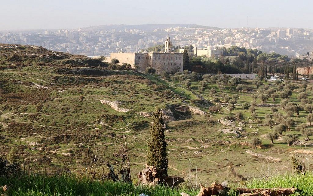 A view of the Mar Elias monastery. (Shmuel Bar-Am)