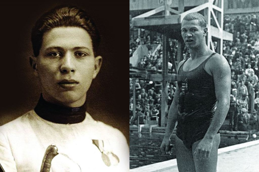 Jewish Olympians Attila Petschauer (left) and Andras Szekely, both murdered in the Holocaust (public domain)