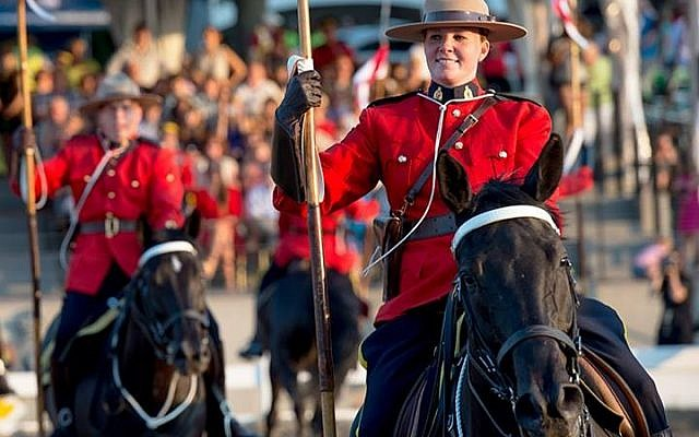 The Royal Canadian Mounted Police performing a musical ride, Courtesy Facebook