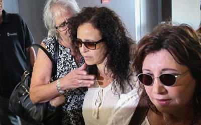 Galit Nakash at the Tel Aviv District Court, August 9, 2016. (Flash90)