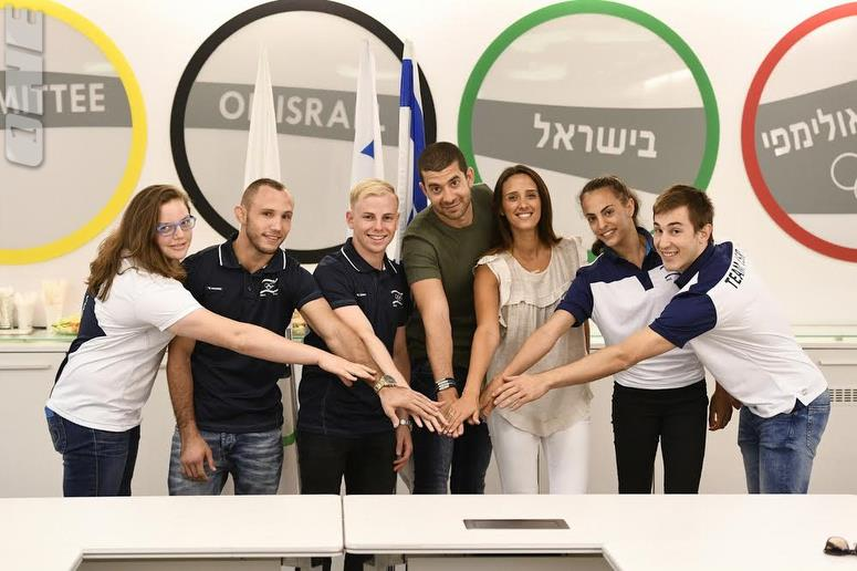 Oren Shabat Laurent and his wife Sivan Laurent sponsor Israel's 2020 Olympic hopefuls (Photo Courtesy Olympic Committee of Israel)