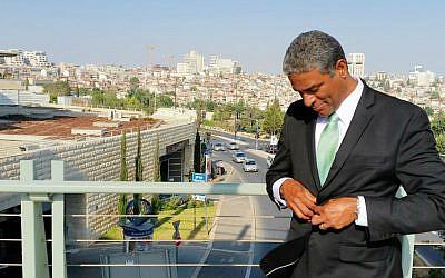 Cuban civil rights activist Oscar Biscet in Jerusalem, August 2016 (Raphael Ahren/TOI)
