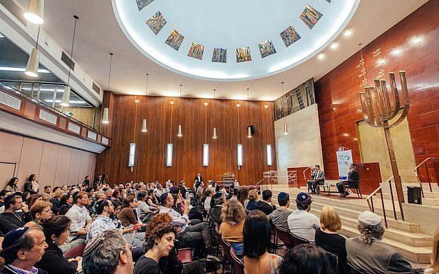 With ties to the Conservative and Reform movements, the Congregacao Israelita Paulista — founded by German refugees in 1936 — is Brazil's largest synagogue with 2,000 affiliated families. (Courtesy of CIP/via JTA)