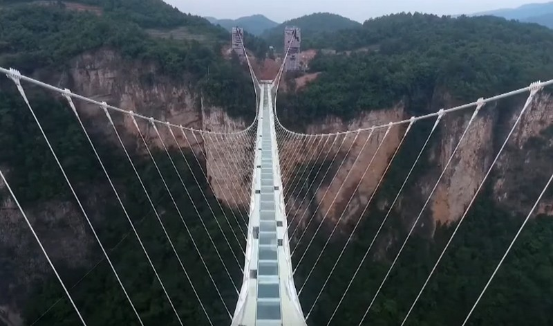 chinas zhangjiajie grand canyon bridge youtube screenshot - Zhangjiajie Glass Bridge