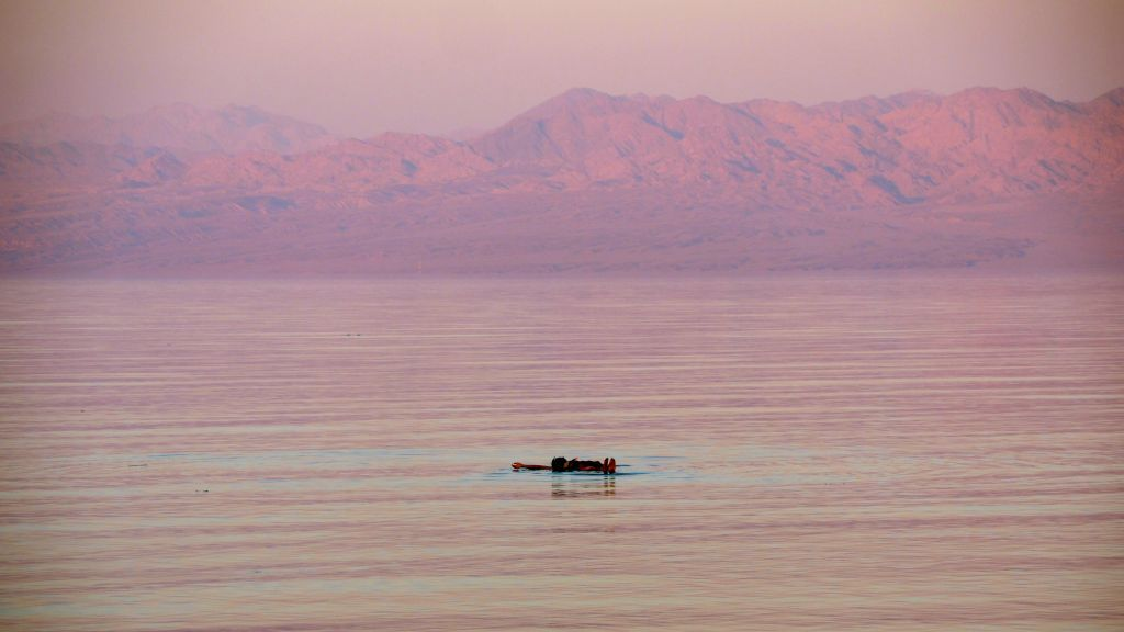 Sunset in the Sinai Peninsula, on August 12, 2016. (Melanie Lidman/Times of Israel)