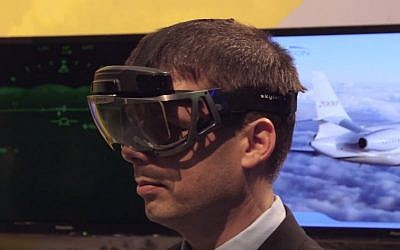 Elbit's wearable heads-up display (YouTube screen capture)