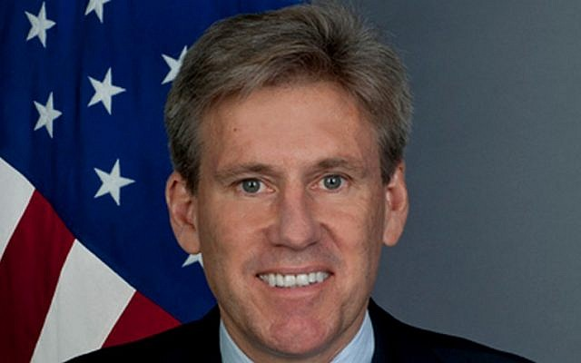 The late US ambassador to Libya Christopher Stevens, killed in the attack on the US consulate in Benghazi in 2012 (photo credit: courtesy/US State Department)