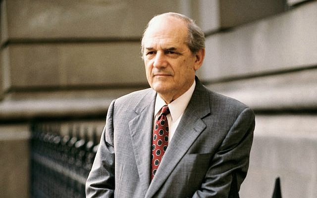 """Steven Hill appeared in 225 episodes of """"Law & Order"""" from 1990 to 2000. (NBCU Photo Bank/Getty Images via JTA)"""