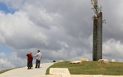 The Tolerance Monument, between the Jewish neighborhood of Armon Hanatziv and the Arab village of Jabel Mukaber. (Shmuel Bar-Am)