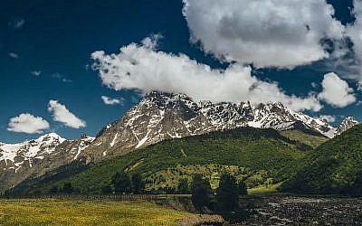 Georgia's Ushba Mountain (YouTube screenshot)