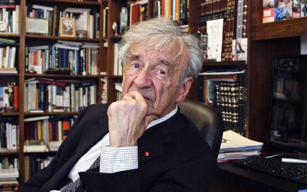 Elie Wiesel in his office in New York, September 12, 2012 (AP Photo/Bebeto Matthews)