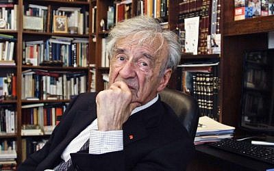 Elie Wiesel in his office in New York, September 12, 2012 (AP Photo/Bebeto Matthews)