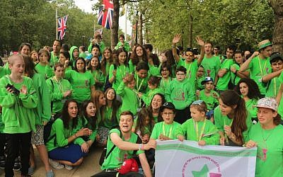 Enjoying London in July 2016 with cancer-assistance organization Zichron Menachem, which assists kids with cancer and their families (Courtesy Zichron Menachem)