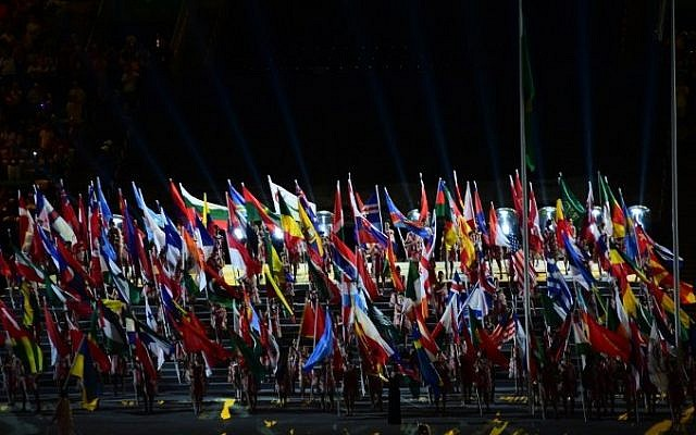 View of the opening ceremony of the Paralympic Games at Maracana Stadium in Rio de Janeiro, Brazil, on September 7, 2016. (AFP/Tasso Marcelo)