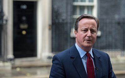This file photo taken on July 11, 2016 shows British Prime Minister David Cameron address the media outside 10 Downing Street in London, after announcing that Theresa May would be Britain's new leader. (AFP PHOTO / CHRIS J RATCLIFFE)