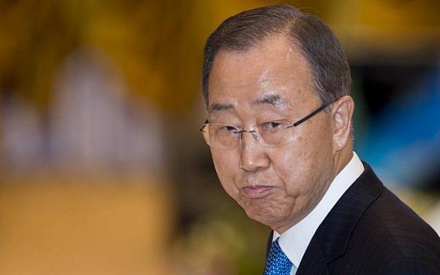 This file photo taken on September 7, 2016 shows UN secretary general Ban Ki-moon at ASEAN-UN Summit in Vientiane. (AFP / YE AUNG THU)