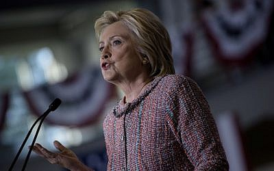 Democratic presidential nominee Hillary Clinton speaks during a rally at the University of North Carolina at Greensboro, September 15, 2016 in Greensboro, North Carolina. (AFP/Brendan Smialowski)