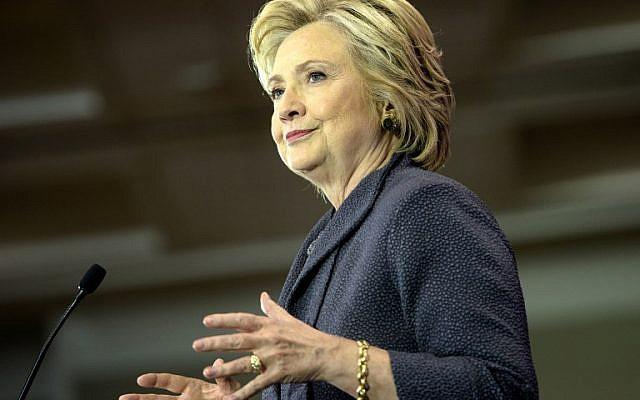 Democratic presidential nominee Hillary Clinton speaks at the Black Women's Agenda 39th Annual Symposium on September 16, 2016 in Washington, DC. (AFP PHOTO/Brendan Smialowski)