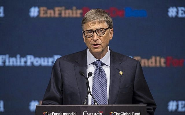 Philanthropist Bill Gates speaks at the closing of the Fifth Replenishment Conference of the Global Fund to Fight AIDS, Tuberculosis and Malaria in Montreal, Quebec, September 17, 2016.  (AFP PHOTO / Geoff Robins)