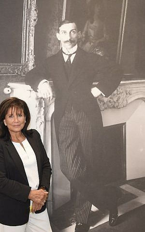 French journalists Anne Sinclair, granddaughter of legendary art dealer Paul Rosenberg, is seen at the inauguration of '21 Rue de la Boetie,' an exhibition about his life, at the Musee de la Boverie in Liege, Belgium on September 21, 2016. (AFP PHOTO/JOHN THYS)