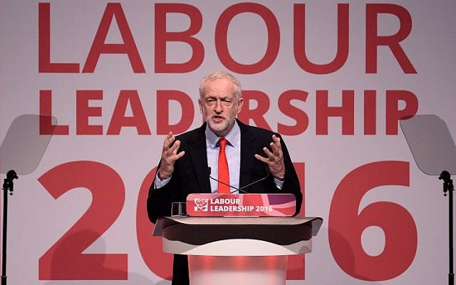Jeremy Corbyn speaks after being reelected as the head of the UK Labour Party, at a party conference in Liverpool on September 24, 2016. (AFP/Oli Scarff)