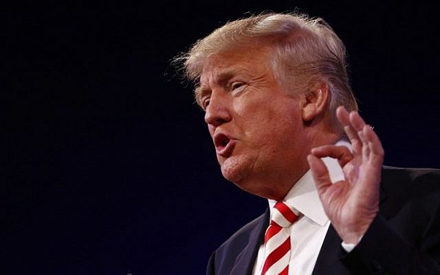 Republican presidential candidate Donald Trump speaks at the American Legion Convention September 1, 2016 in Cincinnati, Ohio. (Aaron P. Bernstein/Getty Images/AFP)