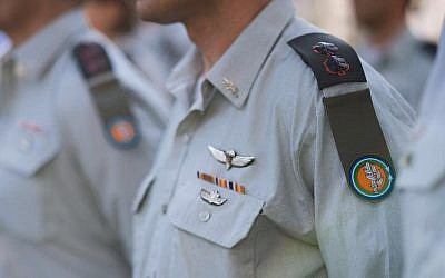 IDF officers wearing the tag of the new Ground Forces after its merger with the Technological and Logistics Directorate in September 2016. (Ground Forces/Facebook)